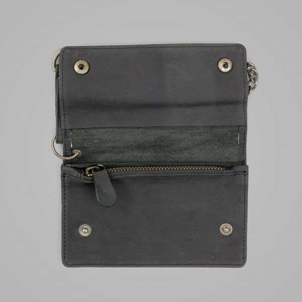 DICKIES DEEDSVILLE LEATHER WALLET BLACK
