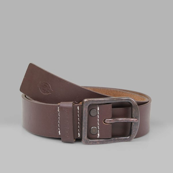DICKIES HELMSBURG LEATHER BELT BROWN