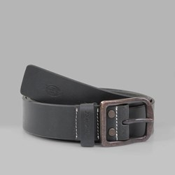 DICKIES HELMSBURG LEATHER BELT BLACK