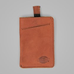 DICKIES LARWILL LEATHER CARD HOLDER CHESNUT