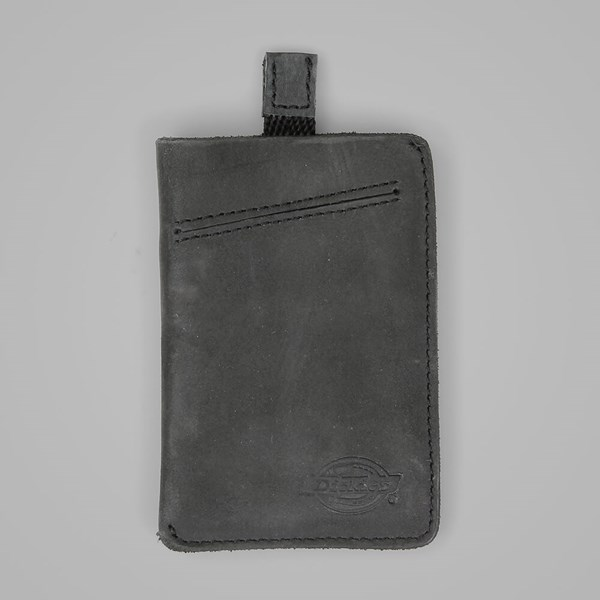 DICKIES LARWILL LEATHER CARD HOLDER BLACK