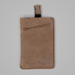 DICKIES LARWILL LEATHER CARD HOLDER BROWN