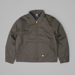 DICKIES LINED EISENHOWER JACKET DARK BROWN