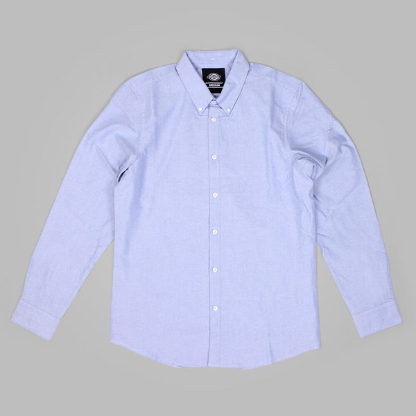 DICKIES MOUNT PLEASANT LS SHIRT BLUE