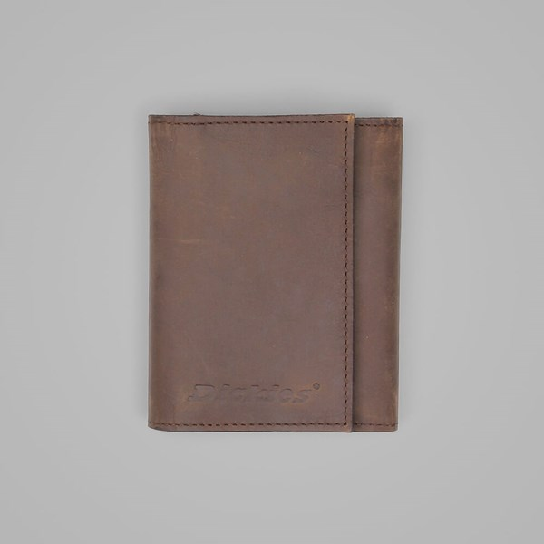 DICKIES OWENDALE LEATHER WALLET BROWN