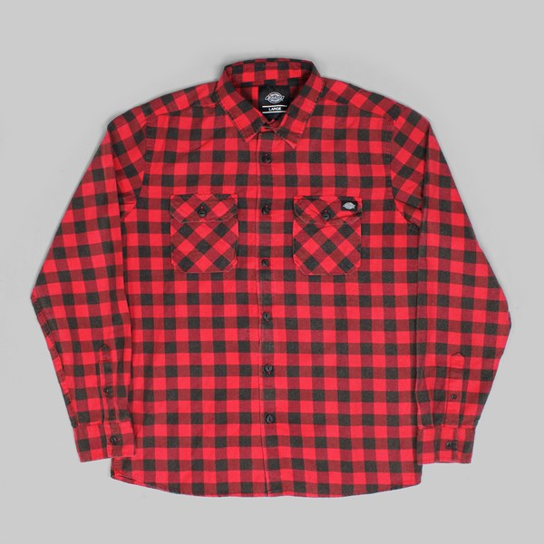 DICKIES ROCK HALL SHIRT FIERY RED