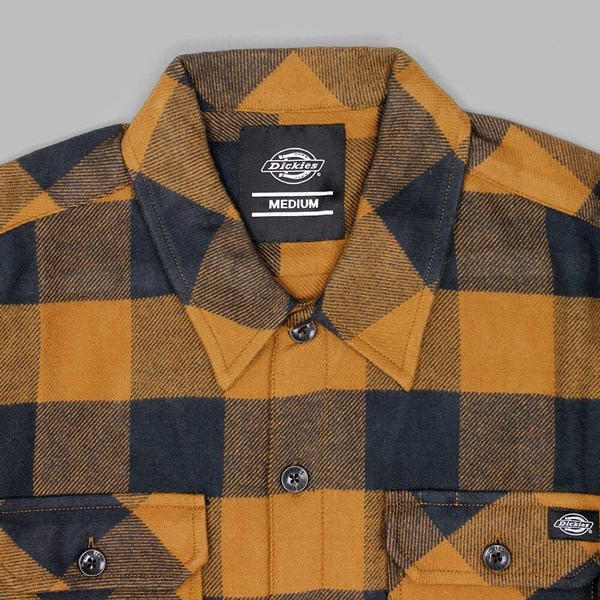 DICKIES SACRAMENTO LS SHIRT BROWN DUCK