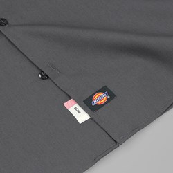 DICKIES SHORT SLEEVE SLIM WORK SHIRT CHARCOAL