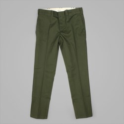 DICKIES SLIM 872 FIT WORK PANT OLIVE GREEN