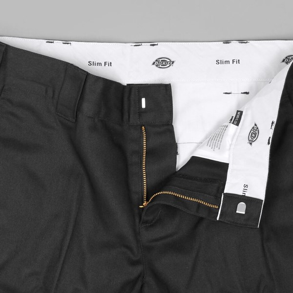 DICKIES SLIM FIT WORK PANT BLACK