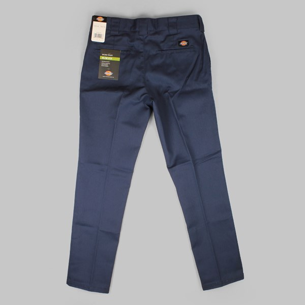 DICKIES SLIM FIT WORK PANT NAVY