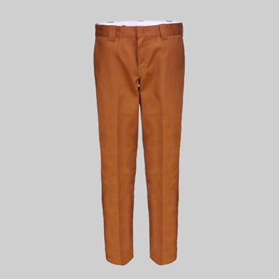 DICKIES 873 SLIM STRAIGHT WORK PANT BROWN DUCK