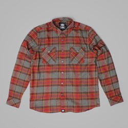 DICKIES WALLACE LS SHIRT RED