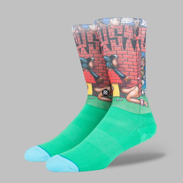 STANCE X SNOOP DOGG 'DOGGY STYLE' SOCKS GREEN