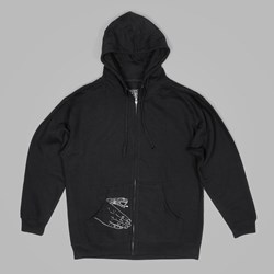 DOOM SAYERS CORP GUY ZIP HOOD BLACK