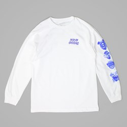DOOM SAYERS EVERYBODY'S CLOWN LS TEE WHITE