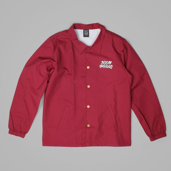 DOOM SAYERS GHOST FACE COACHES JACKET CARDINAL