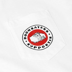 DOOM SAYERS POKER CHIP POCKET TEE WHITE