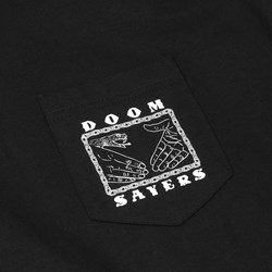 DOOM SAYERS SNAKE CHAIN POCKET TEE BLACK