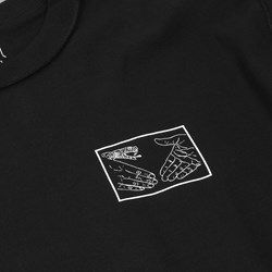 DOOM SAYERS SNAKE SHAKE LS TEE BLACK