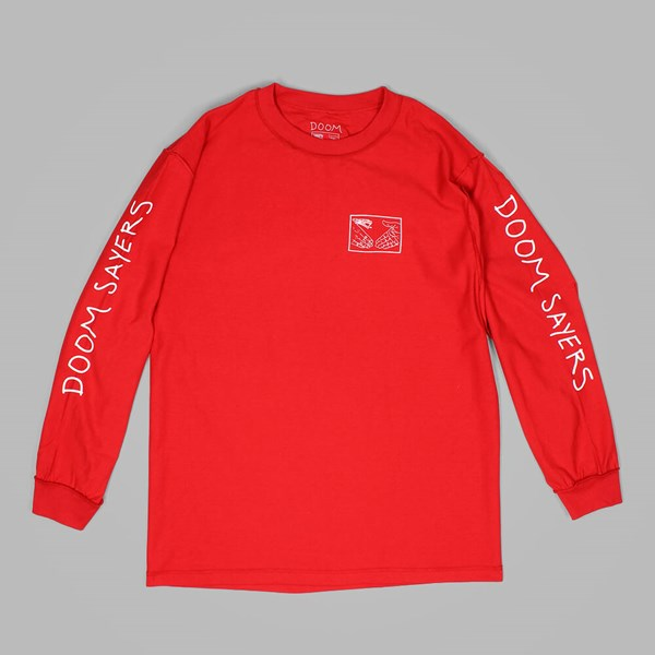 DOOM SAYERS SNAKE SHAKE LS TEE DARK RED