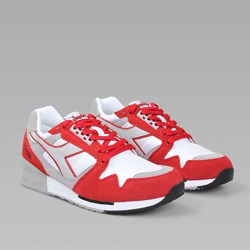 Diadora IC4000 Nylon White Bittersweet Red