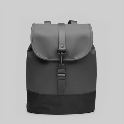 RAINS DRAWSTRING BACKPACK BLACK
