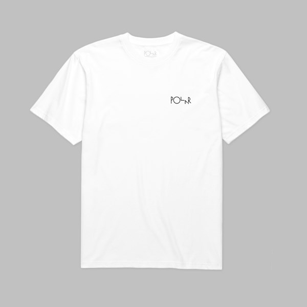 POLAR SKATE CO. ESCAPE ROUTE FILL LOGO TEE WHITE