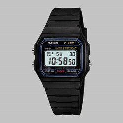 CASIO WATCH F-91W-1XY BLACK