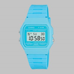 CASIO WATCH F-91WC-2AEF BRIGHT BLUE