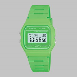 CASIO WATCH F-91WC-3AEF BRIGHT GREEN