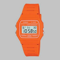 CASIO WATCH F-91WC-4A2EF ORANGE