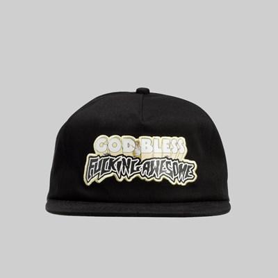 5f8f428f6e6b6 FUCKING AWESOME GOD BLESS FA CAP BLACK