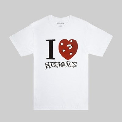 FUCKING AWESOME I HEART FA SS T-SHIRT WHITE