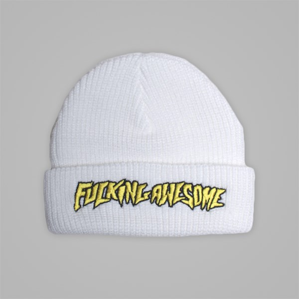 FUCKING AWESOME BEANIE HAT WHITE