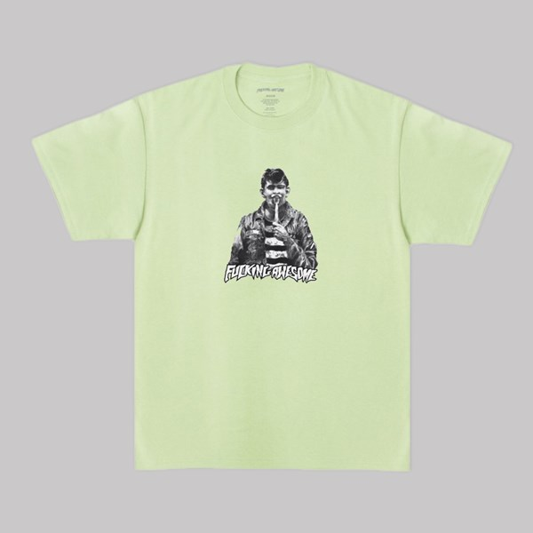 FUCKING AWESOME KNIFE TONGUE T-SHIRT PISTACHIO