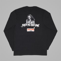 FUCKING AWESOME X THRASHER 'THRASH' LS TEE BLACK