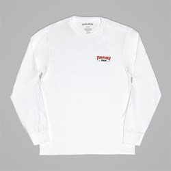 FUCKING AWESOME X THRASHER 'THRASH' LS TEE WHITE