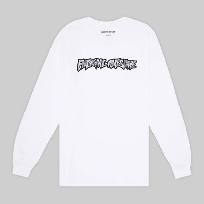 FUCKING AWESOME ACTUAL VISION GUIDANCE LS TEE WHITE