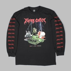 FLYING COFFIN A.L.F LONG SLEEVE TEE BLACK