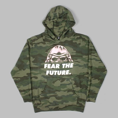 FLYING COFFIN FEAR THE FUTURE PO HOODIE CAMO