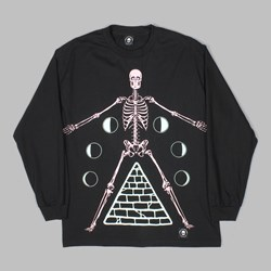 FLYING COFFIN PHASES LONG SLEEVE TEE BLACK