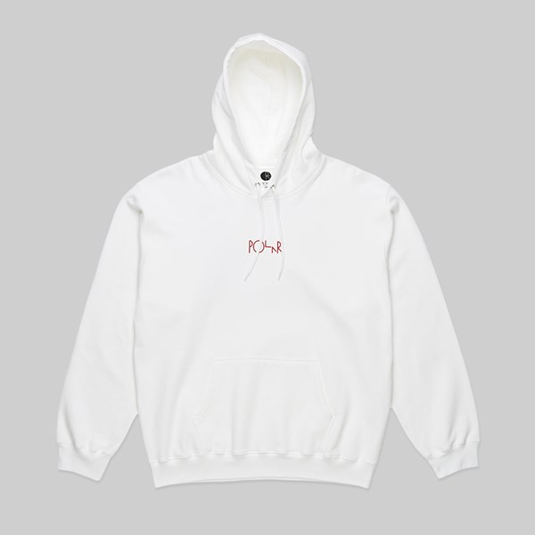 POLAR SKATE CO. FOUNTAIN HOODIE WHITE