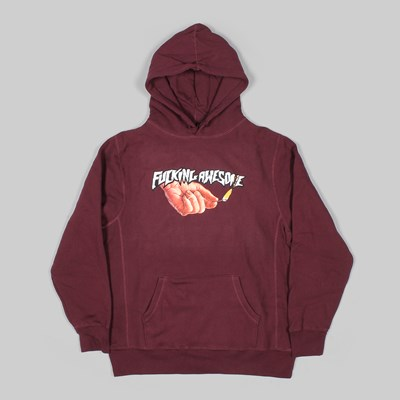 FUCKING AWESOME PYRO HOODIE MAROON