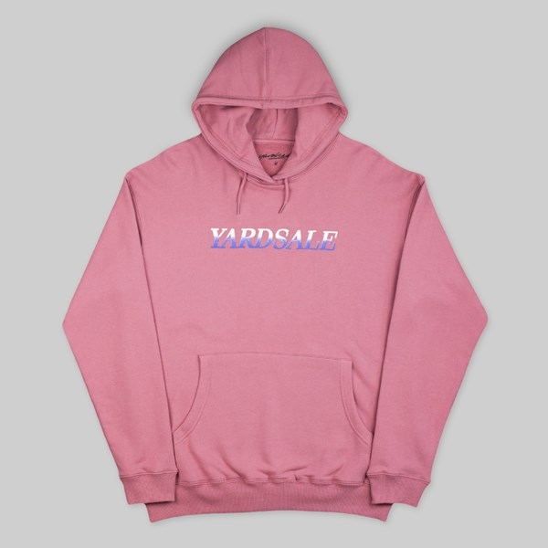 YARDSALE FADE HOOD SWEAT ROSE PINK