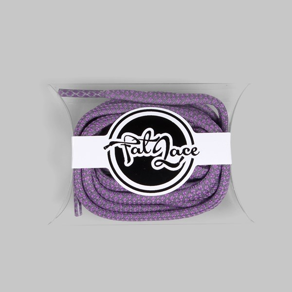 Fat Lace 3M Reflective Rope Laces Purple 125cm