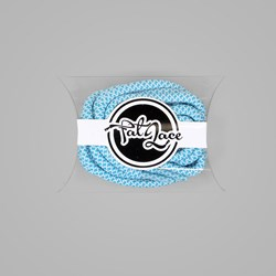 Fat Lace Tiffany Rope Laces Teal White - 125cm