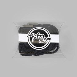 Fat Lace Yeezy Laces Black Black Tip - 120cm