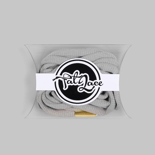 Fat Lace Yeezy Laces Grey Gold Tip 120cm