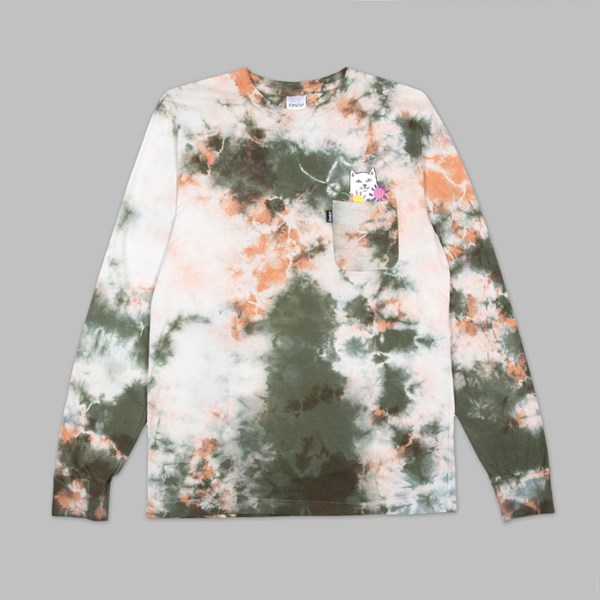 RIP N DIP FLOWERS FOR BAE LS T-SHIRT GREEN PINK